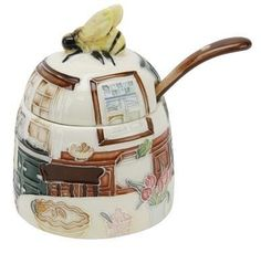 Country Kitchen Honey Pot & Spoon - Old Tupton Ware