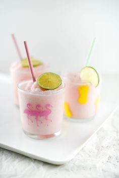 The perfect summer drink for pool parties from http://boxwoodavenue.com {Cups are a DIY too!}