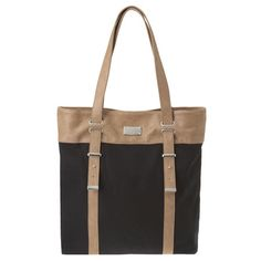 Another inspiration to sew. Black canvas. Tan leather.