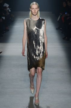 Sheathed in glitter that will catch every tea light on the table.  Narciso Rodriguez Fall 2014 Ready-to-Wear Collection Slideshow on Style.com