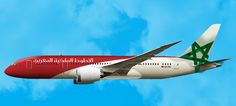 Royal Air Maroc B787 in the new livery of the company.