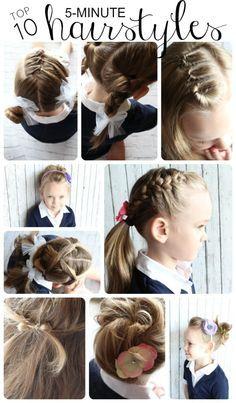 10 Easy Hairstyles for Girls That You Can Do In 5 Minutes - Somewhat Simple
