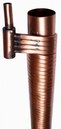 Drainline Heat Exchangers - BuildingGreen.  Under shower heat exchange to warm the cool water coming in.
