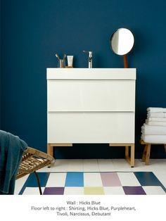 Eine tolle Wandfarbe! #KOLORAT #Wandfarbe #Wandgestaltung #Blau #blue