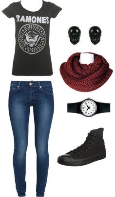 No scarf and replace the Ramones shirt with Five Finger Death Punch and it would be perfect!
