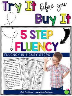5 Step Fluency - Try It Before You Buy ItThis sampler packet lets you try a 5 Step Fluency passage from each of my 3 packets. (Beginner, Original, and Advanced.)  I am frequently asked which packet would work best for a particular classroom.  This will give you the opportunity to try all three and purchase what you are needing.