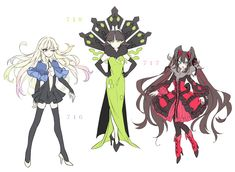 Humanized Xerneas, Yveltal, and Zygarde