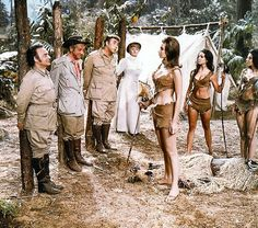 Kenneth Connor, Sid James, Frankie Howerd, Joan Sims & Valerie Leon in Up the Jungle