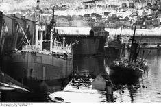 Damaged ships at Narvik Norway April Credit: Bundesarchiv Bild Gerd Böttger. Narvik, Two Steps From Hell, Scandinavian Countries, History Online, Tromso, Trondheim, Navy Ships, Military History, World War Ii