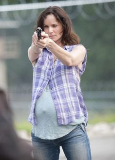 Lori's last stand. A great mother, and great character. I loved her courage. People say she couldn't choose between her husband and Shane, but she did. As soon as Rick came back she was loyal to him. I'm not saying that she didn't make some bad choices because she did but she was always one of my favs