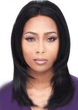 Crisp 14 Inch Black Straight Remy Hair Wig With Baby Hair