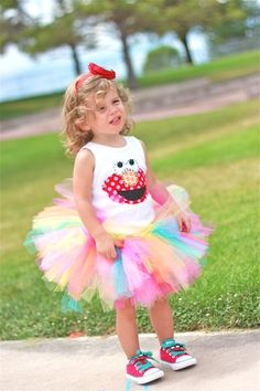sesame street party - birthday girl's outfit!