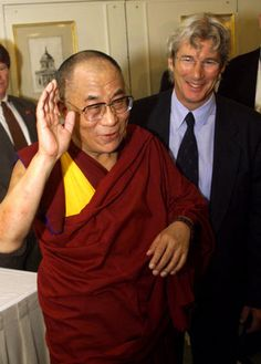 Vintage 2009, Dalai Lama with Richard Gere, NYC, www.RevWill.com