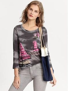 Sailboats Graphic Tee from Banana.  This is so cute!