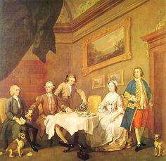 William Hogarth, La famiglia Strode, 1738, tecnica ad olio, 67 x 92 cm, Tate Gallery di Londra. (commissionata dalla famiglia stessa)