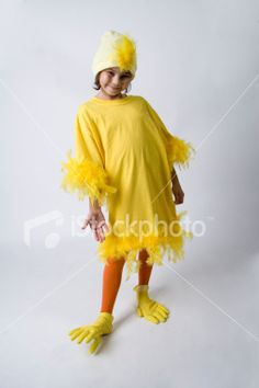 Homemade Chicken Costume Royalty Free Stock Photo