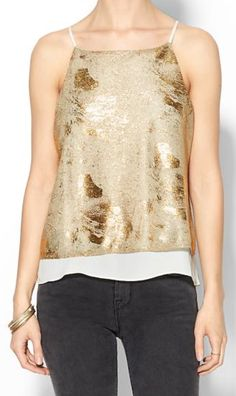gold metallic tank  http://rstyle.me/~3v4pm
