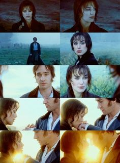 Pride and Prejudice - Darcy and Elizabeth - people always look at me weirdly when I say that this is my favorite version. I know that a lot of the book was cut out, but this film is so beautifully made. I don't know who the cinematographer was, but bravo.