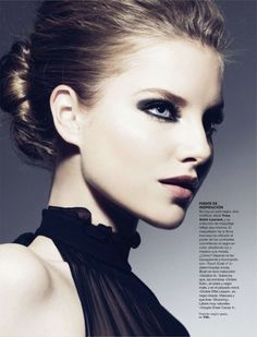 Be daring and pull off a smokey eye paired with a pale pink lip