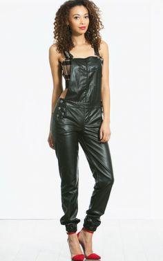 Vegan Leather Overalls