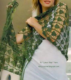 Stylish Easy Crochet: Crochet Pattern Of Soft Lace wrap / Shawl / Scarf