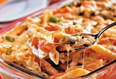 New chicken recipes pasta cheese dinners Ideas Chef Recipes, Pasta Recipes, Cooking Recipes, Healthy Recipes, Portuguese Recipes, Italian Recipes, New Chicken Recipes, Best Dishes, Fabulous Foods