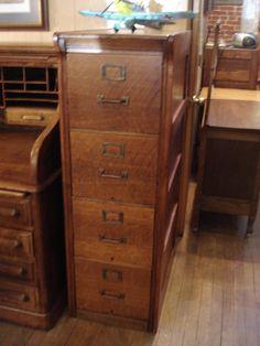 old file cabinet for linen storage