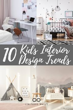 When it comes to decorating your home, keeping your family in mind is one of the first things to do. You'll want to involve them in your choices to make sure they love your ideas and that they're kid-friendly. So if you're looking for interior design ideas for kids, keep reading! Children's wall murals. Interior design inspiration. Tap to read the Limitless Walls blog now. New Interior Design, Interior Design Inspiration, Design Ideas, Childrens Wall Murals, Removable Wall Murals, Mural Ideas, Wall Colors, Decorating Your Home, Choices
