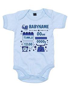 Baby Body zur Geburt mit deinem persönlichen Initialien Anker