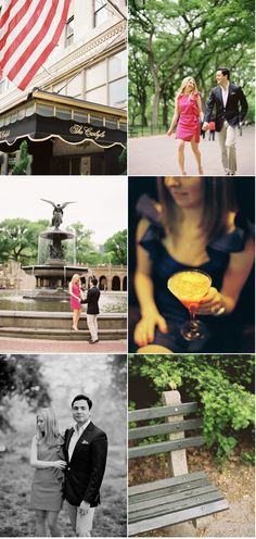 Central Park engagement shoot by Kevin Von Qualen.