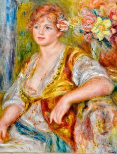 Pierre Auguste Renoir - Blonde a la rose, 1917 at Musée de l'Orangerie Paris France | by mbell1975