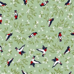 Mistletoe is for the Ditsy Birds fabric by eclectic_house on Spoonflower - custom fabric Novelty Fabric, Fabric Birds, Ditsy, Mistletoe, Custom Fabric, Spoonflower, Printing On Fabric, Craft Projects, Quilts