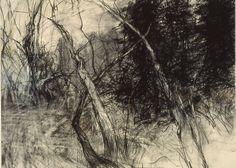 """For Sale: Tree by Tree by Nanci Erskine   $100   30""""w 22""""h   Original Art   https://www.vangoart.co/buy/art/tree-by-tree @VangoArt"""