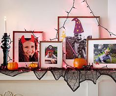 put your family pictures in costume with paper cutouts or removeable vinly for halloween or even better april fools!