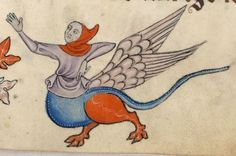 Detail from The Luttrell Psalter, British Library Add MS 42130 (medieval manuscript,1325-1340), f65r