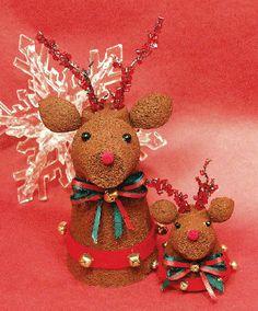 Peat Pot Reindeer Ornaments Tutorial