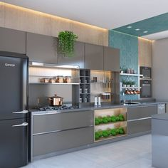 Luxury Kitchen Remodel with Gray Cabinet and Black Marble Countertop Secrets - homesuka Luxury Kitchen Design, Kitchen Room Design, Contemporary Kitchen Design, Kitchen Cabinet Design, Home Decor Kitchen, Interior Design Kitchen, Kitchen Ideas, Kitchen Tips, Rustic Kitchen