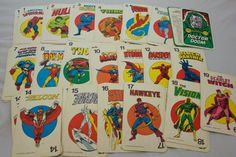 1978 Marvel Card Game Cards