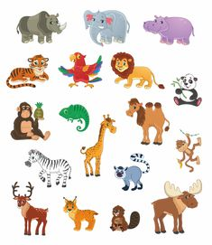 1 million+ Stunning Free Images to Use Anywhere Jungle Cartoon, Cartoon Kids, Winnie The Pooh Gif, Animal Nail Designs, Zoo Activities, Kids World Map, Page Borders Design, Free Printable Art, Animal Posters
