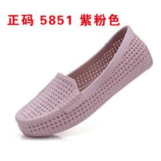 Women Sandals, Women's Shoes, [Special] every hole woven plastic sandals women flat heel boots work shoes nurse shoes soft bottom