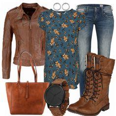 BikerGirl Damen Outfit - Komplettes Freizeit Outfit günstig kaufen    FrauenOutfits.de Komplette Outfits, fc21f9e63c