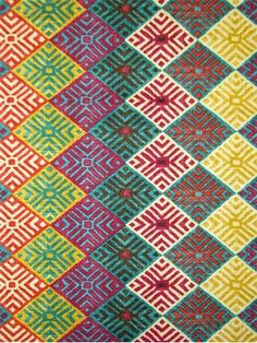 """Four Corners Gem. Southwestern tribal print on 100% cotton duck. Perfect for window treatments (draperies, curtains, valances, and swags), bed skirts, duvet covers, pillow shams, accent pillows, tote bags, aprons, slipcovers and upholstery. Durable 15,000 double rubs. Repeat: V 8.4"""" - H 13.5"""". 54"""" wide"""