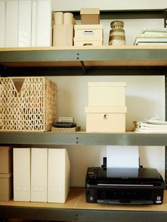 Industrial rack (bookcase) w/ natural touches