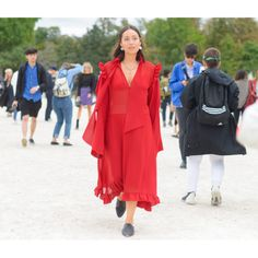 Fashion Week brought some major fall fashion inspiration, like pairing flats with a larger-than-life dress to balance it out
