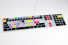 Keyboard skin with photoshop shortcuts $40They also have final cut pro, after effects, logic pro, lightroom, aperture and protools.