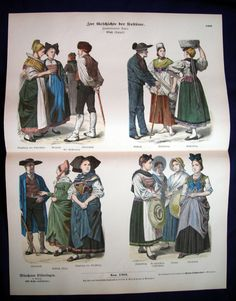 Late 19th Century-Alsatian Folk Dress-Strasbourg-Colmar -Costumes & Fashion | eBay Folk Costume, Costumes, Magazine Titles, 1880s Fashion, Alsatian, Strasbourg, Alsace, Lorraine, Pastel Colors