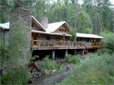 Wilkey Residence, Historic Upper Canyon, Ruidoso, NM. This craftsman style inspired home was published in From House To Home (Spring 2008).