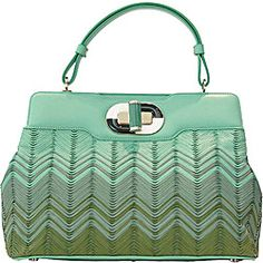 Isabella Rosellini teamed up with Bulgari for a handbag collection last year. This spring 2011 design was created by Matthew Williamson.