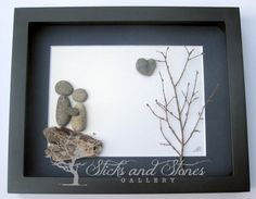 Unique Engagement Gift for Couple Bridal Shower by SticksnStone