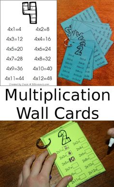 3 Dinosaurs has a FREE set of Multiplication Wall Cards. This set is great for helping out with learning to saw the multiplication sentences. Such as 2 times 3 equals They can say the equations or just use to see how they did on their work. Math For Kids, Fun Math, Math Resources, Math Activities, Math Intervention, Math Multiplication, Homeschool Math, Homeschooling, Third Grade Math